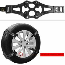 Rupse 8pcs Black Easy To Install Car Snow Tire Chains for Tire 165mm-265mm
