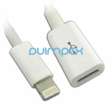 Adaptador De Cable Cargador extensión Lightning iPhone 5 iPad 4 y mini
