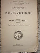 1915 Flora of New Mexico Wooton and Standley Botany Wildflowers Western Plants