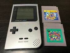 GameBoy Light console Silver Color with 2 Games set