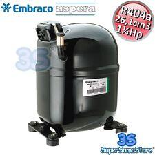 3S NUOVO MOTORE Compressore R404a 1¼ Hp HBP 26,1 cm3 Embraco Aspera NJ9232GK CSR
