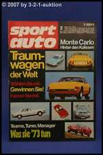 Sport Auto 2/73 Fiat X1/9 Abarth 124 Rally + Poster