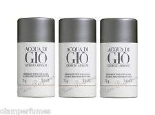 Pack of 3 Armani Acqua di Gio Deodorant Stick 2.6oz 75g each by Giorgio Armani