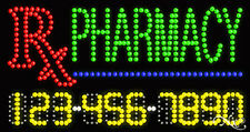 "NEW ""PHARMACY"" 32x17 w/YOUR PHONE NUMBER SOLID/ANIMATED LED SIGN w/OPTIONS 25095"