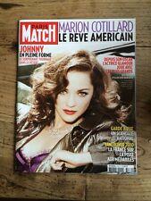 Paris Match du 18 Fevrier 2010 Marion Cotillard / Johnny / JO de Vancouver