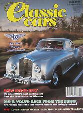 Classic Cars 05/1994 featuring Bentley, Aston Martin, BMW, Lotus, Mercedes