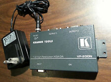 Kramer VP-200N VGA Signal Splitter & Distribution Amplifier w/ PSU & Cable
