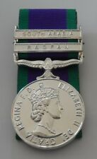 Court Mounted Full Size GSM Medal with South Arabia & Radfan Clasps, Military