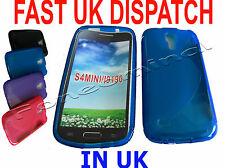For Samsung Galaxy S4 Mini GT i9190 Pattern Gel Jelly Case Protector Cover Blue