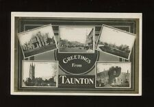 Somerset TAUNTON Greetings from 1907 M/view RP PPC