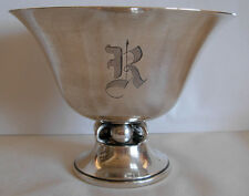 "DURHAM USA  STERLING SILVER FOOTED BOWL # 6311 --   INITIAL  "" R ""  -- 215 grams"