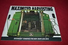 John Deere 9400 9500 9600 Row Crop & Rice Combine Dealer's Brochure YABE1