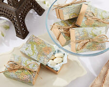 24 Around The World Map Favor Boxes Bridal Shower Wedding Favor Boxes