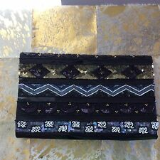 FRENCH CONNECTION EMBELLISHED OVERSIZED CLUTCH