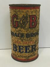 G B, Grace Bros. Age Dated Beer Can, O/I, IRTP, Flat Top