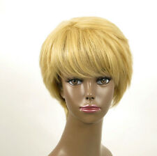 perruque afro femme 100% cheveux naturel courte blonde ref WHIT 05/22