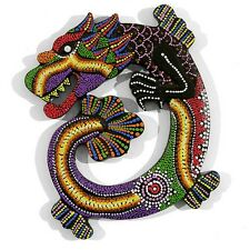 CHINESE DRAGON WOODEN COLOURFUL WALL PLAQUE