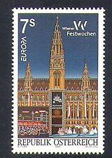 Austria 1998 Europa/Vienna/Buildings/Architecture/Clock/Tower/Festival 1v n37645