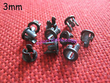 100pcs 3mm Black Plastic LED Clip Holder Holders Case Cup Mounting Free Shipping