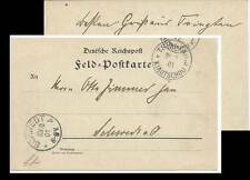 CHINA BOXER REBELLION GERMANY FIELD POST TSINGTAU KIAUTSCHOU COVER 190I SCHWEDT