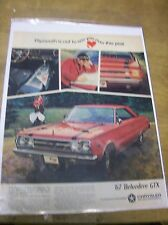 Original 1967 Plymouth Belvedere GTX Magazine Ad - ...Out to Win You Over...