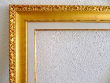 Cadre doré avec marie louise pour tableaux ~ Dorure vive ~ Format peinture 5F