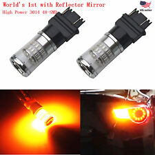 JDM ASTAR 2x48-SMD 3157 3156 Super Amber 3014 Turn Signal Blinker LED Light Bulb