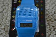 Talking Alarm Novelty Gift Watch Speaks Time In Japanese Digital LCD Blue NEW