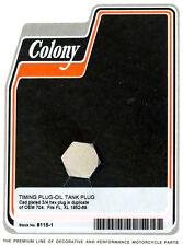 Harley 52-69 FL XL Timing Hole Plug Cad Colony 8115-1