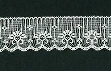 1-3/4 INCH FLAT RASCHEL LACE TRIM; IVORY/CREAM; 10 YARDS; TRIM-066