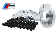 4 - BMW Wheel Spacers Staggered Kit (2) 15mm & (2) 20mm 5x120 | W/20 Black Bolts