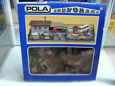 Model Kit Pola Szenorama Car Junkyard (auto-Verwertung) on 1:87 In Box (nr 140)
