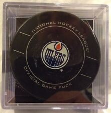 Sealed Edmonton Oilers 2011 official NHL game puck Sher-Wood Hockey