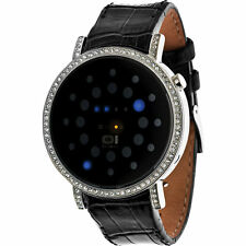 The One Uhr Binary LED BINORS502B1  Odins Rage Stone Damenuhr Lederarmband