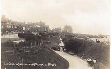 The Gardens (looking West) Westgate on Sea RP old pc used Lankister & C0