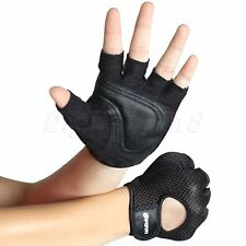Mesh Sport Half Finger Gloves Training Gym Weight Lifting Body Building Exercise