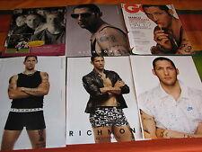 MARCO MATERAZZI shirtless 14 ARTICOLI INTERVISTE POSTERINI RITAGLI CLIPPINGS