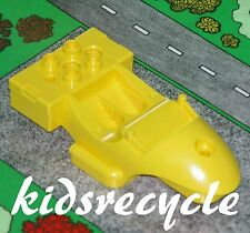 Lego DUPLO Toolo ACTION WHEELER Part MOTORCYCLE / RACER BODY Small YELLOW(31381)