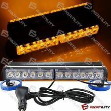 "13"" 72W LED Amber Yellow Light Emergency Warning Strobe Flashing Bar Hazard Roof"