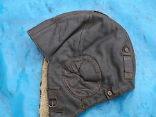 ww2 raf german leather flying helmet furr lining size large  verry nice