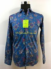 ETRO Milano Men's Paisley Shirt Blue Shirt Dress Or Casual Size L So Nice