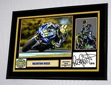 Valentino Rossi Signed Tribute Framed Great Gift A3 size