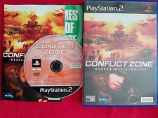 CONFLICT ZONE MODERN WAR STRATEGY ORIGINAL BLACK LABEL SONY PS2 PAL