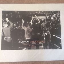 Huge Vintage Coldplay Live 2003 DVD Original Rock Promo Music Poster Memorabilia