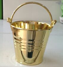 10 Gold Mini Buckets For Party Sweets Bags Favours Favors Table Decorations Toys