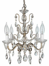 SMALL CRYSTAL CHANDELIER Ceiling Lighting Fixture 4 Light Glass Pendant Lamp