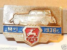 RARE BROCHE URSS USSR RUSSE VOITURE GAZ M-1 1936 BEL ETAT 35mm x 20mm