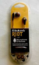 Skullcandy Riot In-Ear Earbud-Explorer/Burgundy/Mustard w/Mic1 Model#:S2IKHY-487