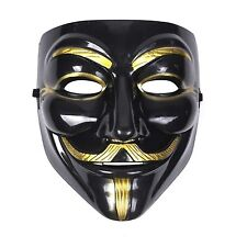 Mens Womens Unisex Anonymous Vendetta Halloween Fancy Dress Mask - Black
