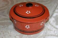 "TERRACOTTA CLAY HAND-PAINTED SMALL ""PANELA DE BARRO"" COVERED CASSEROLE-PORTUGAL"